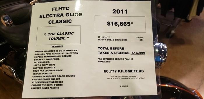 2011 Harley-Davidson FLHTC - Electra Glide® Classic Photo 2 of 7